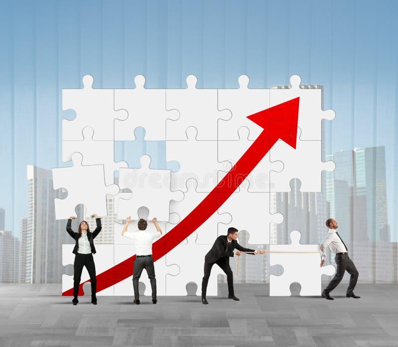 Estatísticas da empresa imagem de stock royalty free