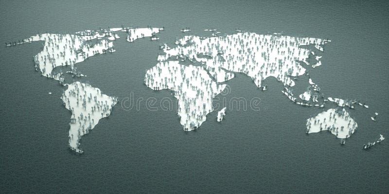 Estatísticas de papel do mundo dos povos ilustração royalty free