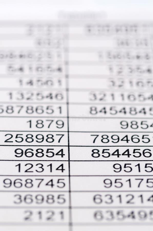 Estatísticas e tabelas fotos de stock