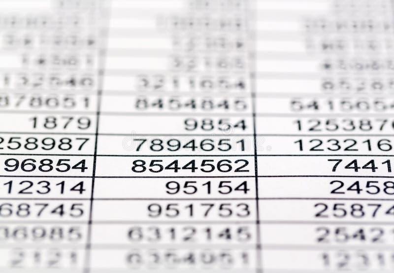 Estatísticas e tabelas imagem de stock royalty free