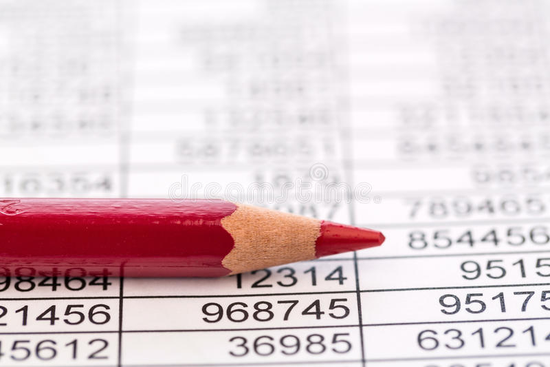 Estatísticas e tabelas fotografia de stock royalty free