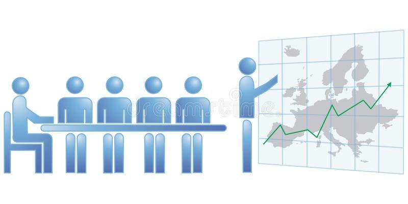 Estatísticas Europa ilustração stock