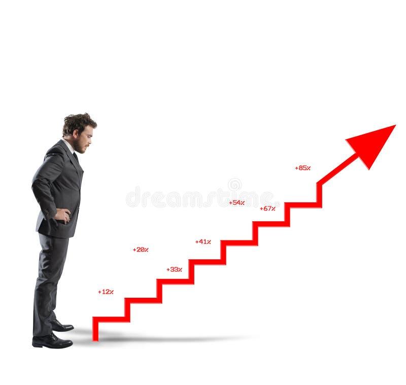 Estatísticas positivas da empresa fotos de stock