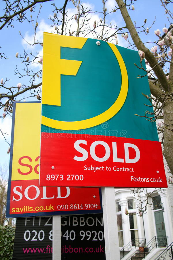Estate Agent Signs royalty free stock photos