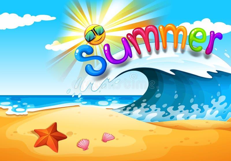 Estate alla spiaggia illustrazione di stock