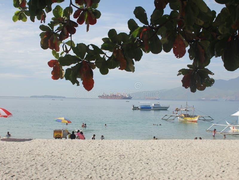 Estate alla spiaggia subic degli zambales fotografie stock libere da diritti
