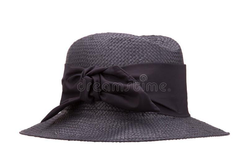 Estate black hat su un fondo bianco fotografie stock