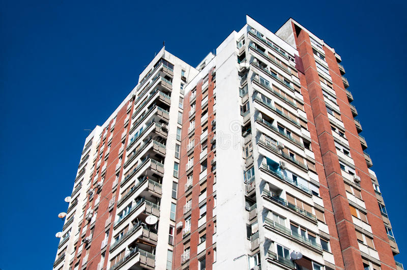 Estate building. Big social estate building in Belgrade stock image