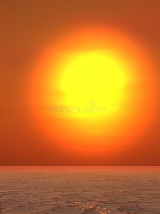 Estate calda Sun royalty illustrazione gratis