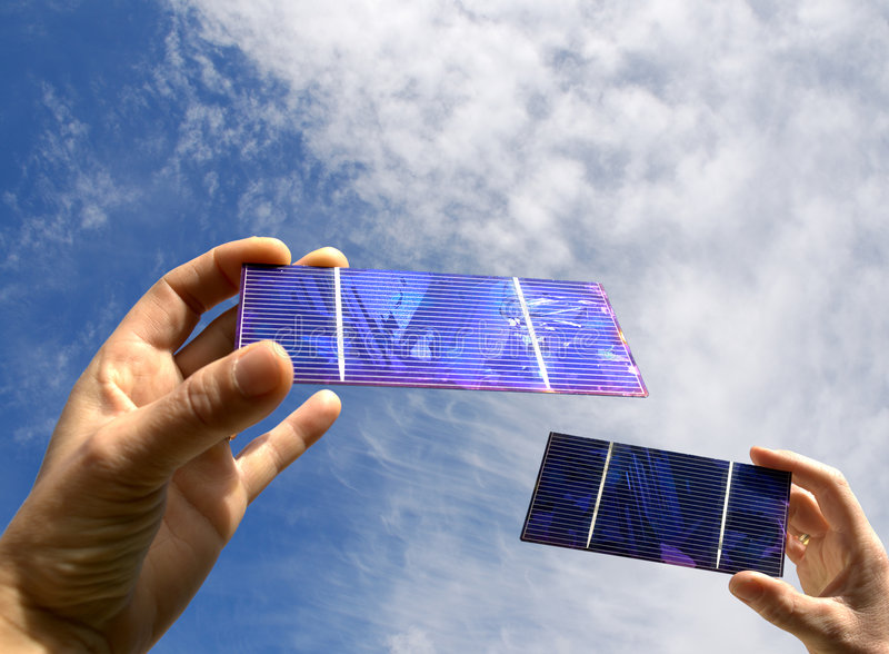Estate con solare fotografie stock