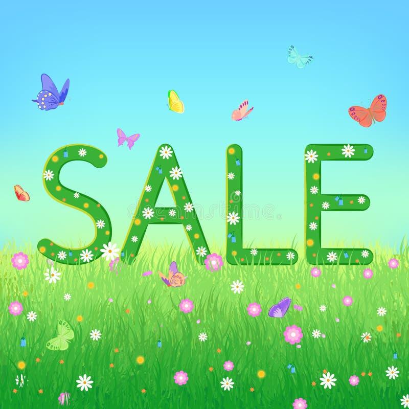 Estate, conclusione della vendita di stagione o concetto di spazio royalty illustrazione gratis