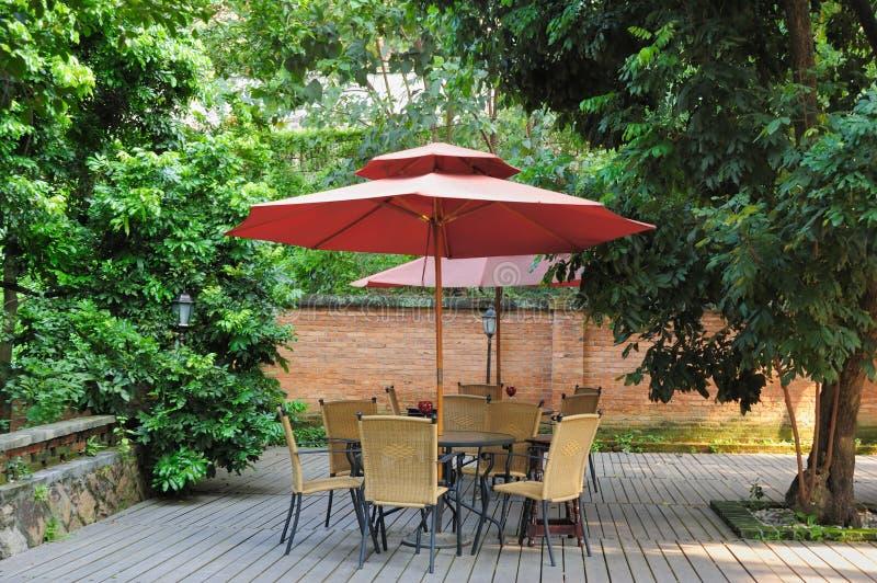 estate del patio fotografie stock libere da diritti