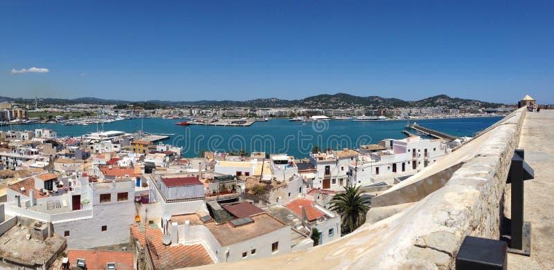 Estate 2014 della città di Ibiza fotografia stock libera da diritti