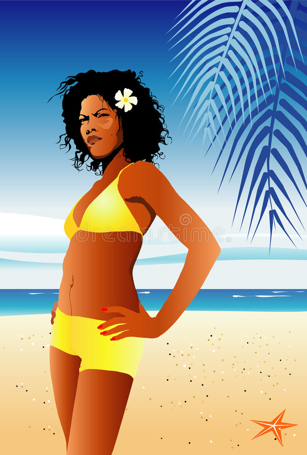 estate della ragazza del bikini royalty illustrazione gratis