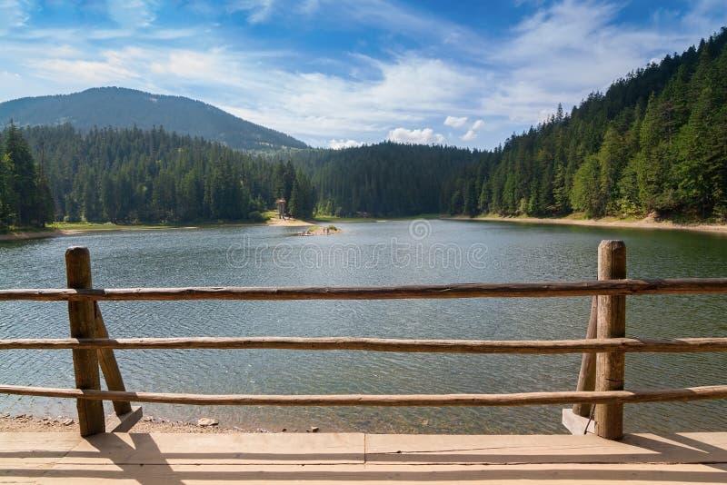 Estate di Synevir del lago in Ucraina immagine stock