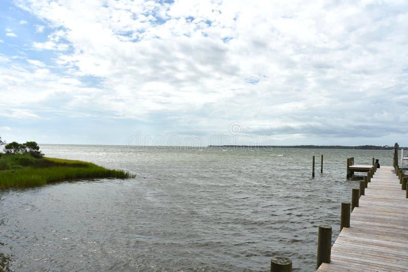 Estate di vista del bacino della baia di Chesapeake fotografia stock libera da diritti