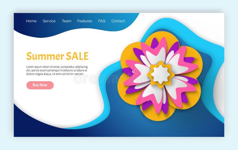 Estate e siti Web di vendita e di sconti della primavera royalty illustrazione gratis