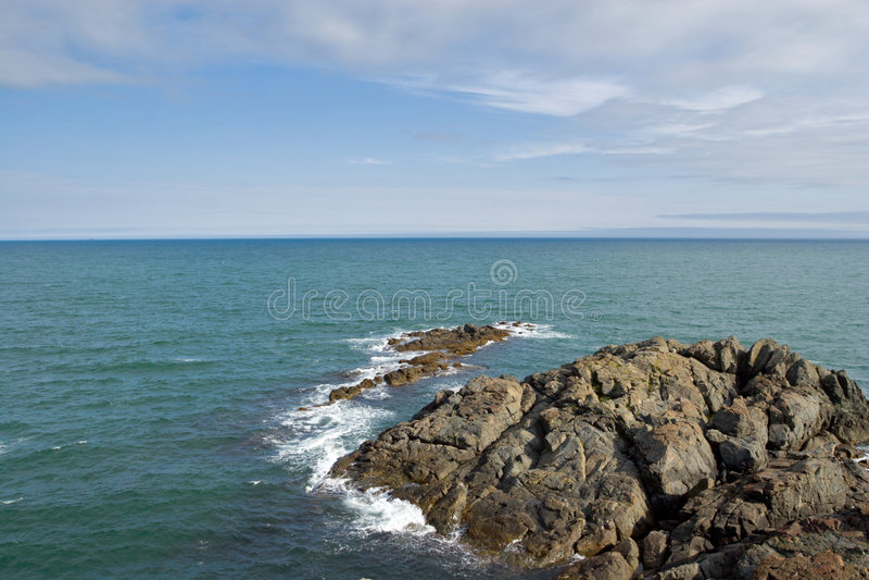 Estate. Litorale di mare. fotografia stock