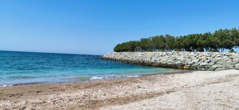 Estate piacevole della spiaggia fotografie stock libere da diritti