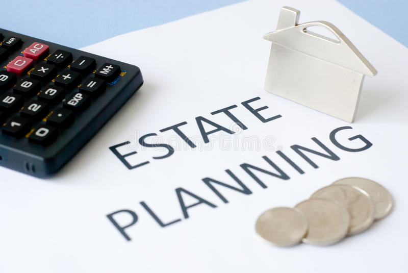 Estate planning royalty free stock photo