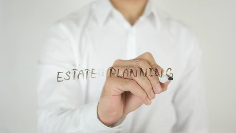 Estate Planning, Written on Glass. High quality stock images