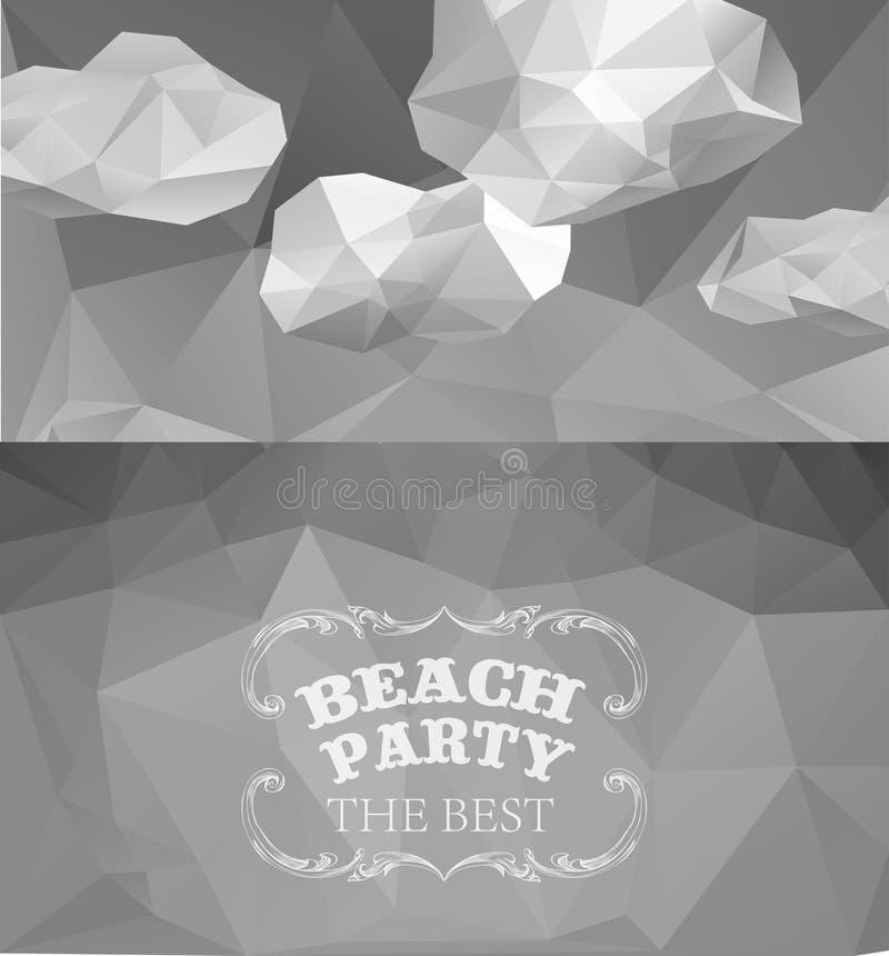 Estate poligonale di vista della spiaggia royalty illustrazione gratis