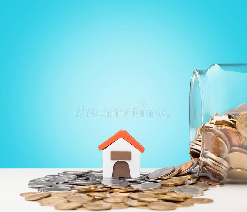 Estate. Real loan money house home business stock image