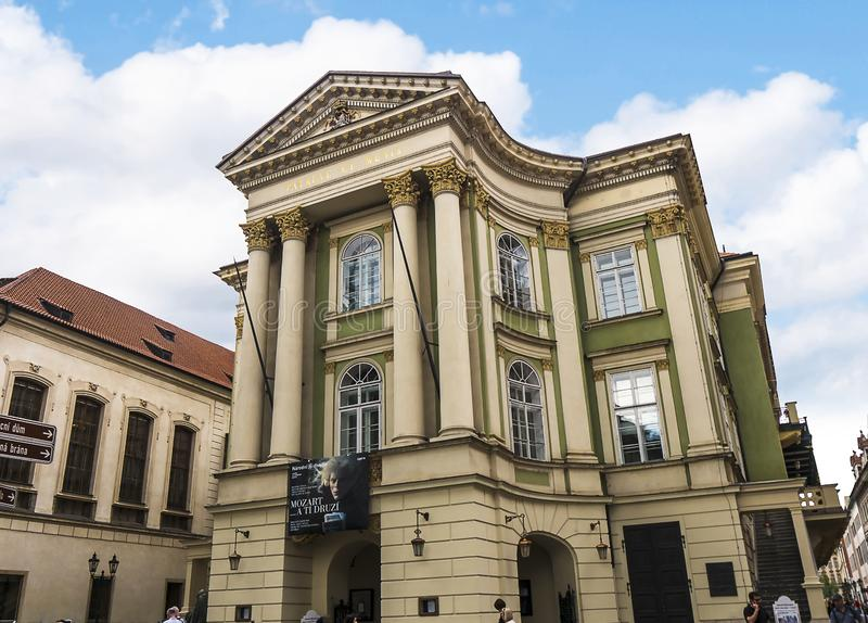 The Estate Theatre in Prague Capital of the Czech Republic. Where Mozart conducted the premiere of his opera Don Giovanni royalty free stock photo
