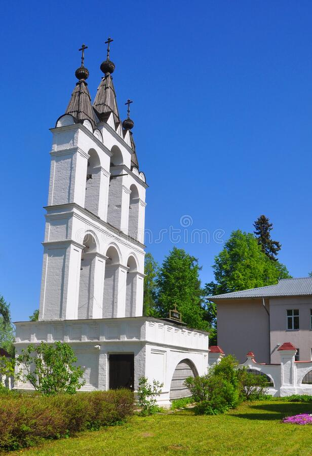 ESTATE VYAZEMY, RUSSIA - MAY 15, 2016: Belfry of the end of the 16th century stock image