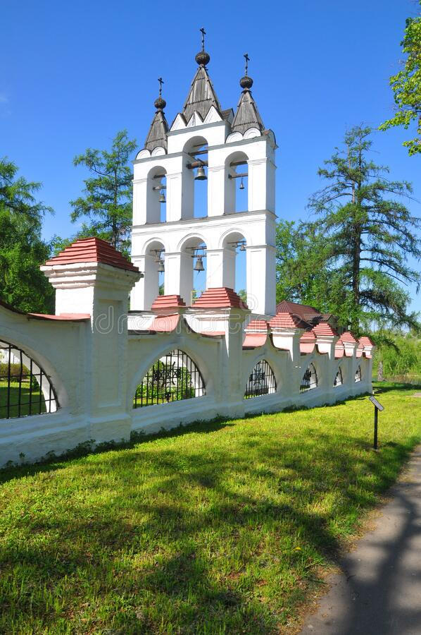 ESTATE VYAZEMY, RUSSIA - MAY 15, 2016: Belfry at Vyazemy Manor royalty free stock image