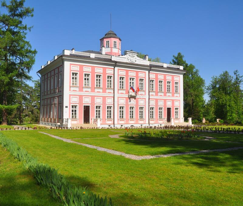 ESTATE VYAZEMY, RUSSIA - MAY 15, 2016: Main House Palace royalty free stock photos