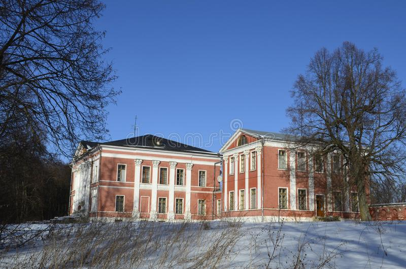 The estate in Yaropolets near Volokolamsk, owned by Zagryazhsky, which was twice visited by Pushkin. View of the estate in Yaropolets near Volokolamsk, owned by stock photography