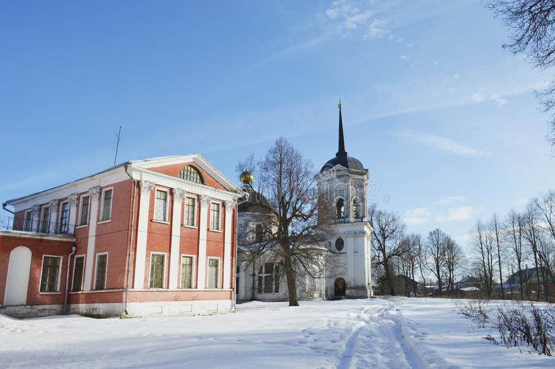 The estate in Yaropolets near Volokolamsk, owned by Zagryazhsky, which was twice visited by Pushkin. View of the estate in Yaropolets near Volokolamsk, owned by stock images