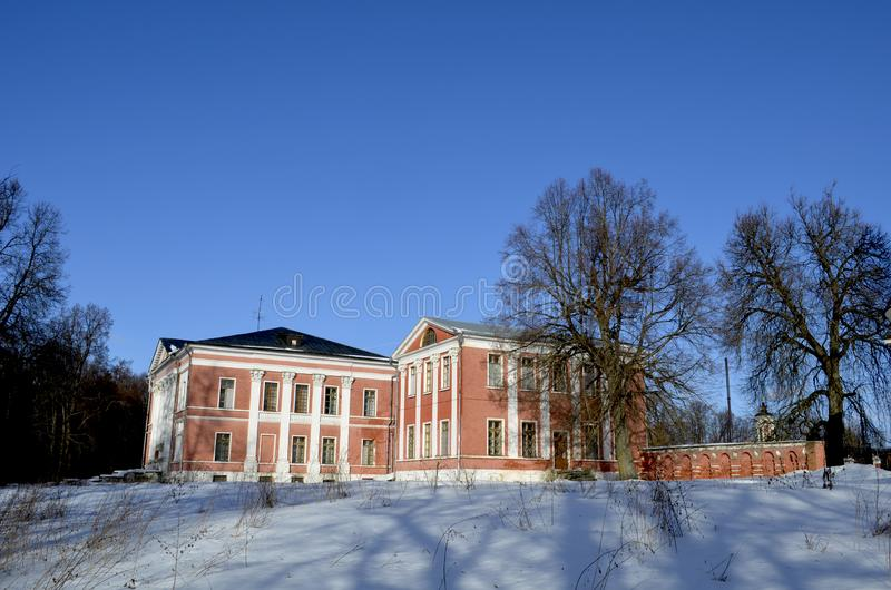 The estate in Yaropolets near Volokolamsk, owned by Zagryazhsky, which was twice visited by Pushkin. View of the estate in Yaropolets near Volokolamsk, owned by royalty free stock photo
