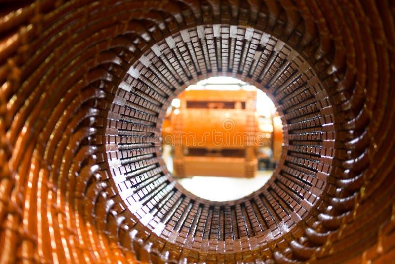 Estator de um motor bonde grande fotografia de stock