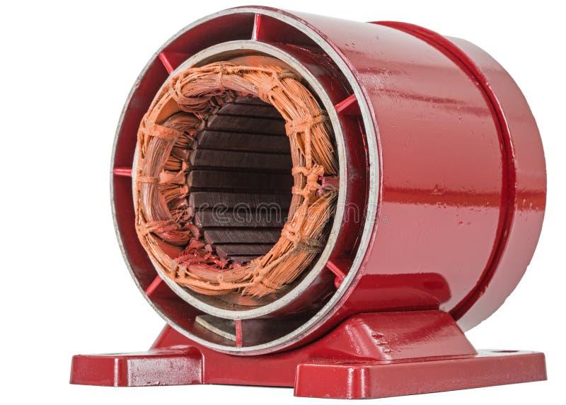 Estator do motor elétrico, isolado no fundo branco fotografia de stock