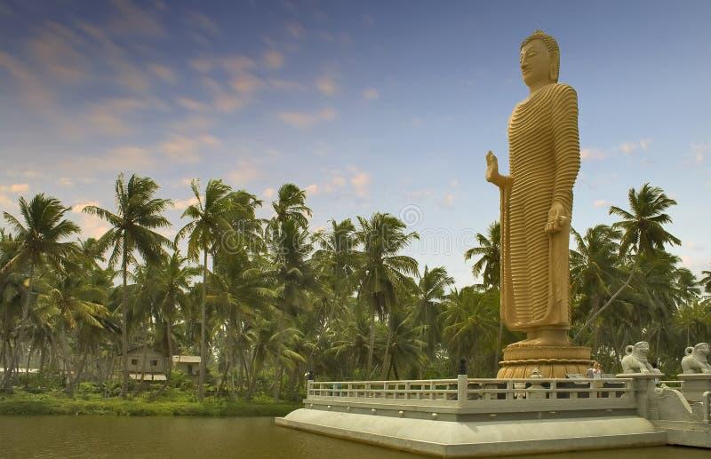 Estatua 1 de Mahabodhi buddha imagen de archivo libre de regalías