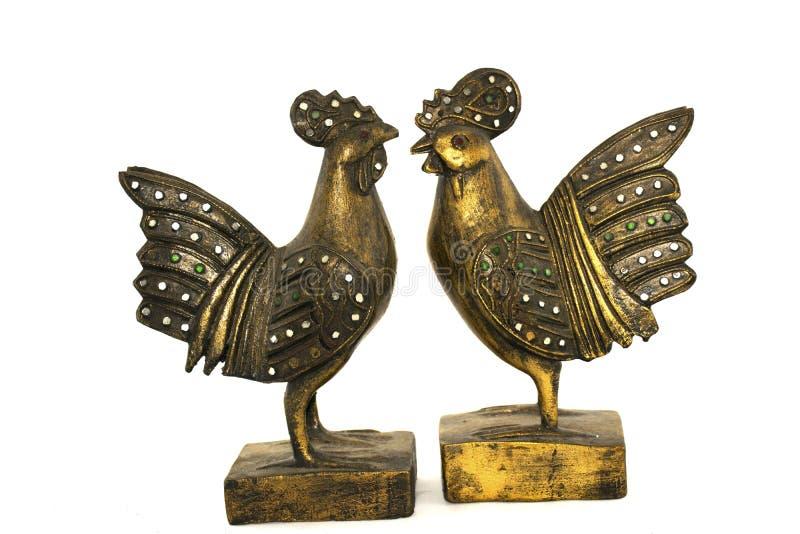 Estatua adornada del pollo fotografía de archivo libre de regalías