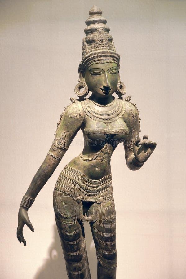 Estatua antigua del bronce de la India fotografía de archivo libre de regalías