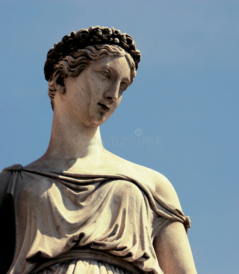 Estatua antigua en Roma fotos de archivo libres de regalías