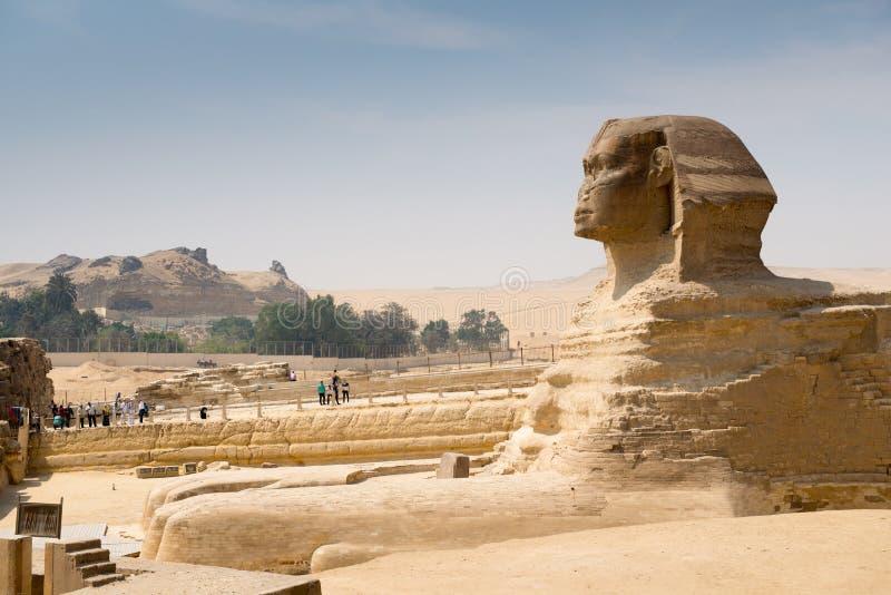 Estatua antigua famosa de la esfinge en Giza imágenes de archivo libres de regalías