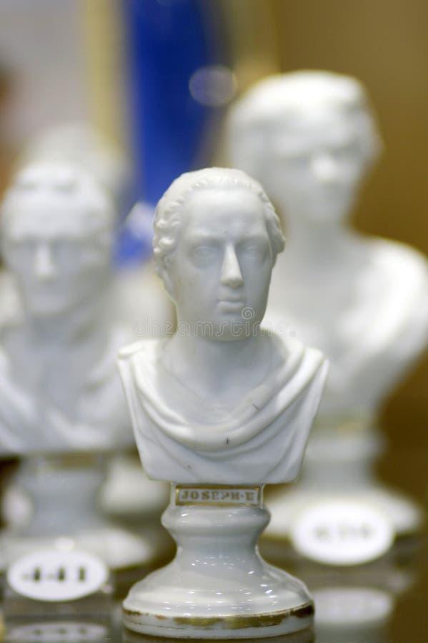 Estatua antigua José de la sopa de mariscos blanca II detalle del busto foto de archivo libre de regalías