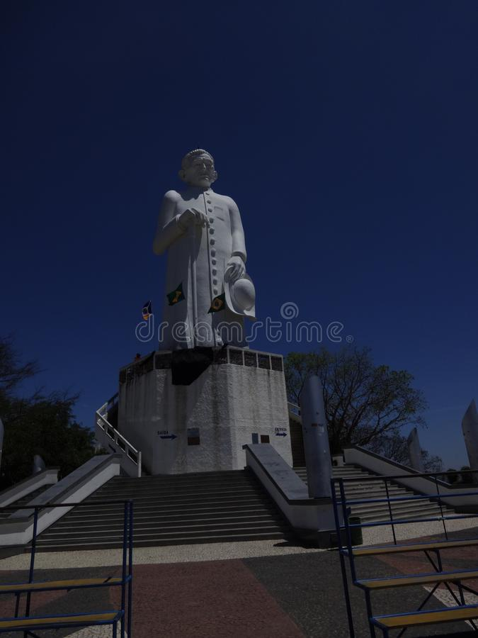 Estatua brasileña de CÃcero del capellán fotografía de archivo