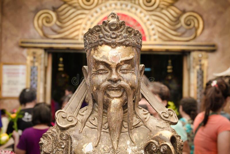 Estatua budista en Wat Nong Hoi Temple, Tailandia de dios imagen de archivo libre de regalías