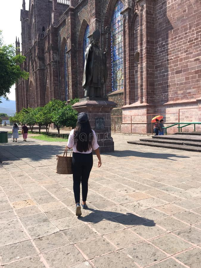 Estatua, catedral Zamora imagen de archivo