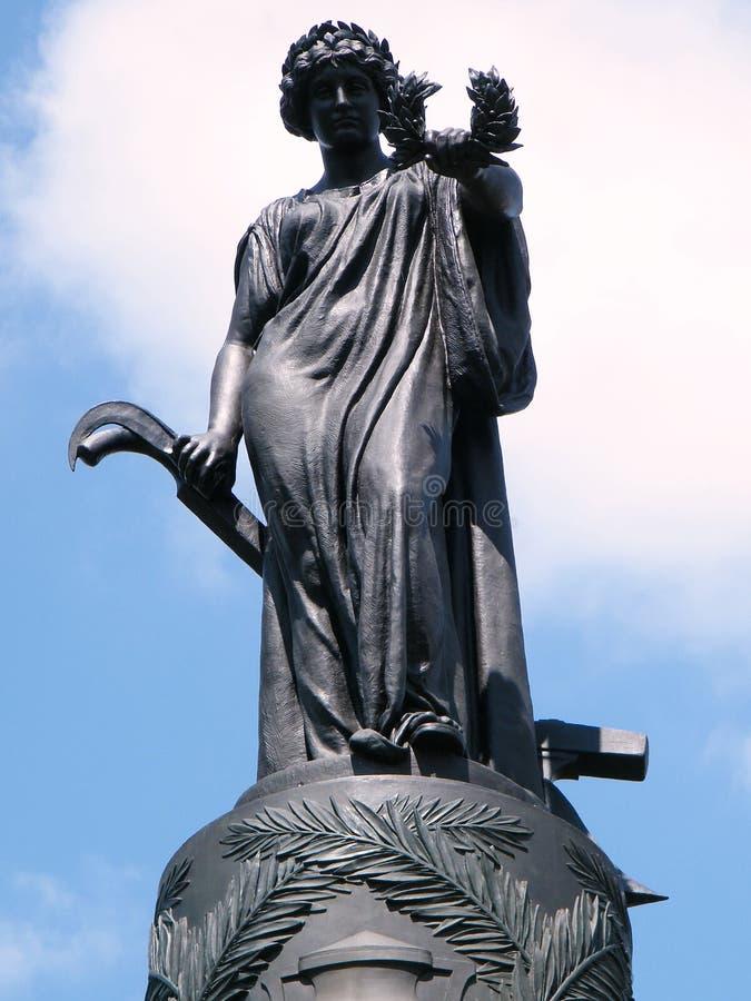 Estatua conmemorativa 2010 del confederado del cementerio de Arlington foto de archivo