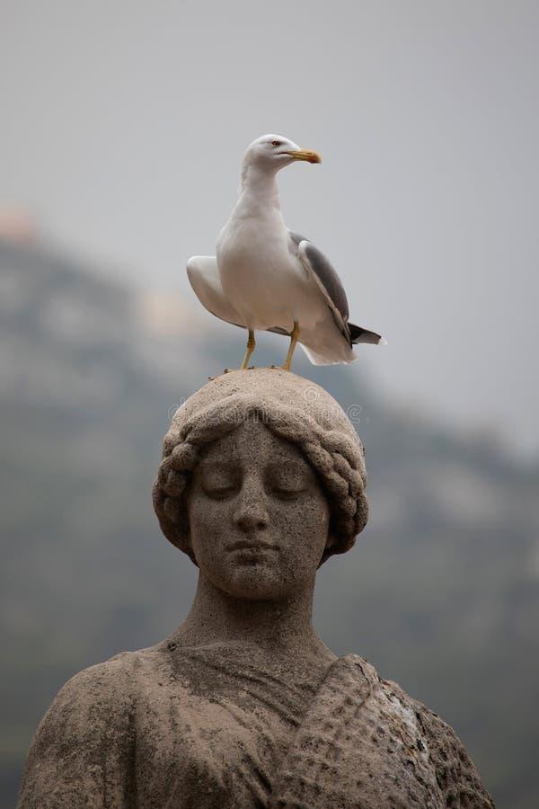 Estatua conmemorativa en Mónaco imágenes de archivo libres de regalías