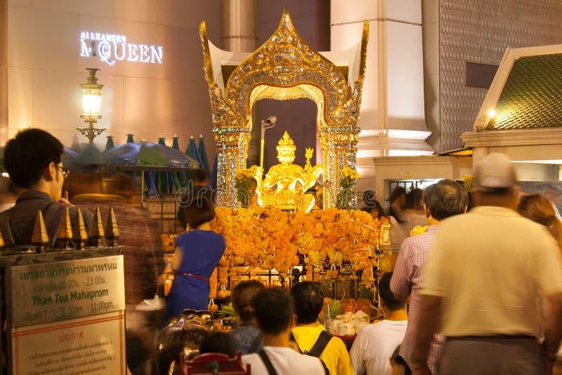 estatua Cuatro-hecha frente de Brahma fotografía de archivo libre de regalías