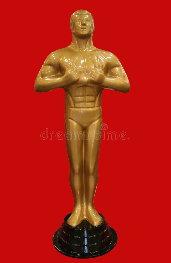 Estatua de Óscar fotografía de archivo libre de regalías