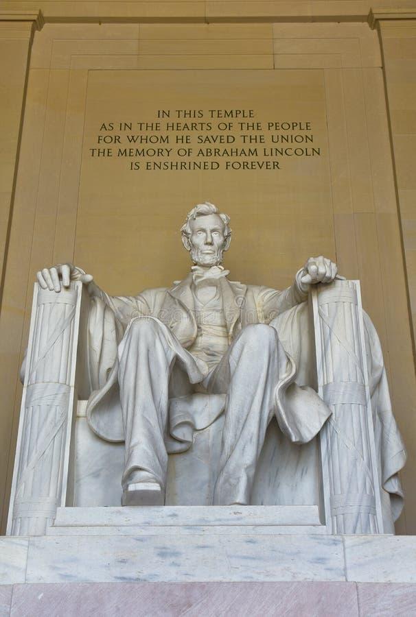 Estatua de Abraham Lincoln en Lincoln Memorial en Washington DC fotos de archivo